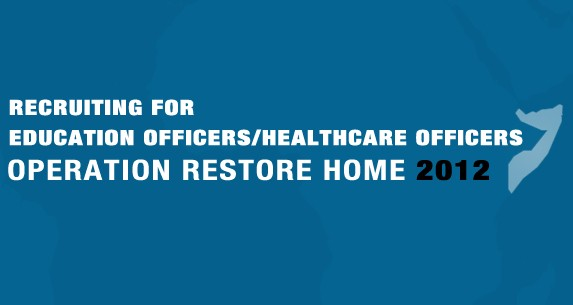 Recruiting for Education Officers/Healthcare Officers – Operation Restore Home